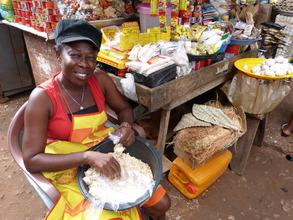 Comfort, WomensTrust client-Chantan Market, Accra
