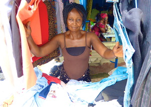 Felicia sells men's and women's clothing