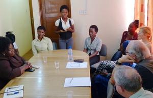 WT interns Stella, Regina & Mary address visitors