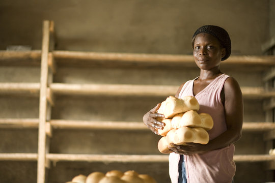 Vida Ankrah Selling Bread