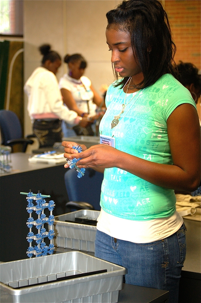 Patrice assisting at one of the GEE programs