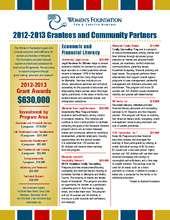 2012-2013 Grantee Listing with Program Description (PDF)