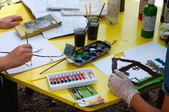 Art workshop in the YES