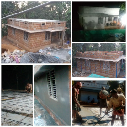 Subaitha's house construction in progress.....