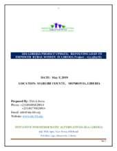 IDA-Liberia Project update 2019 (PDF)