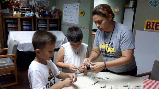 Jael teaching the children