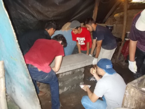 Stove construction with a team