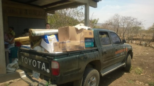Delivering Learning Center supplies