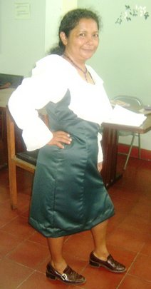Maria who shares testimony on value of class
