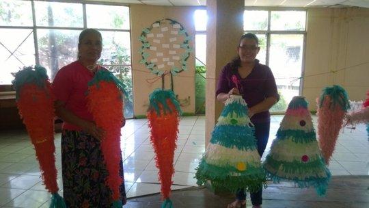 Maritza and Maritza specialize in making pinatas