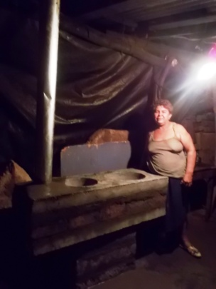 Completed stove installation at La Paz Centro