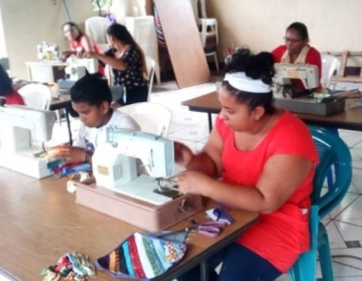Hossana LC, mother and son taking classes together