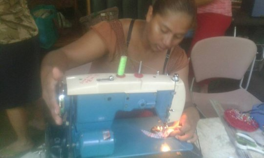 Sewing class at the Learning Center