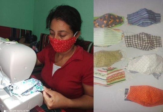 Elizabeth Jarquin Learning Center making masks
