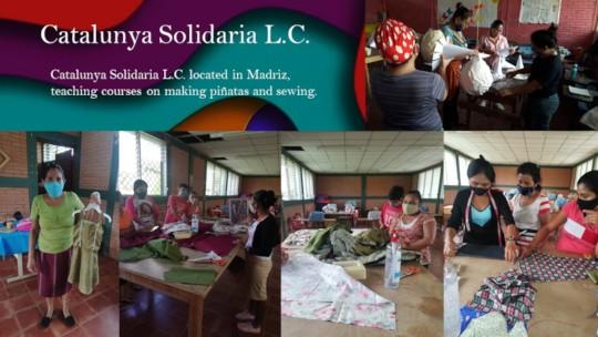 Catalunya Solidaria LC sewing and pinata courses