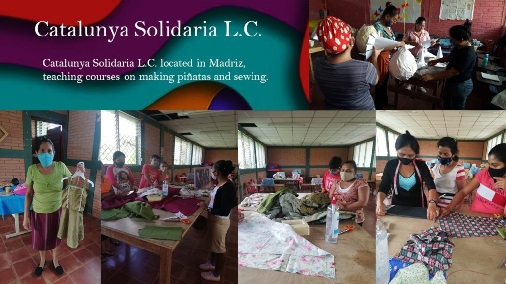 Catalunya Solidaria LC sewing and pinata courses