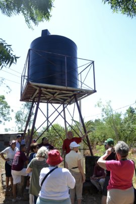 Villa Japon tank provides water to 250 families