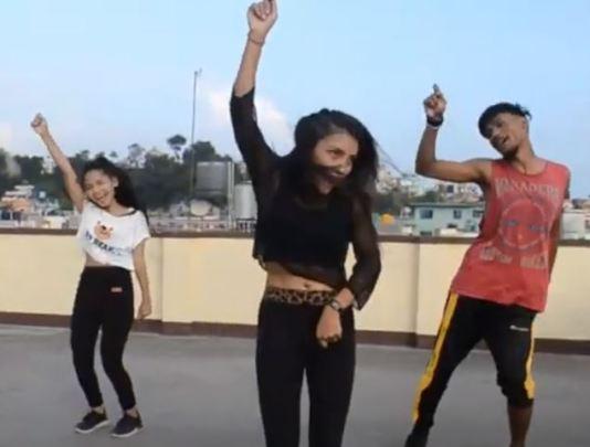 students dancing