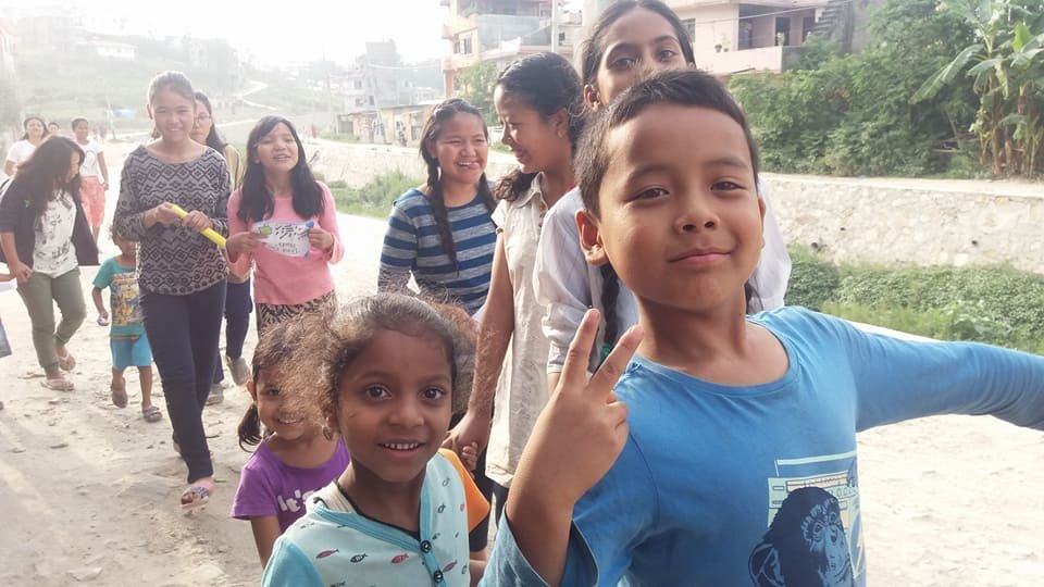 Giving after school support to 34 kids in Nepal