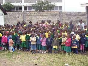 Students and staff at Mzesa