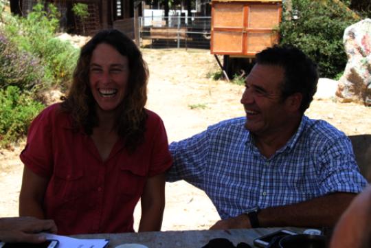 Israeli project participant, Adi (left).