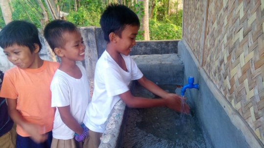 Pit latrines for 13 schools in the Philippines