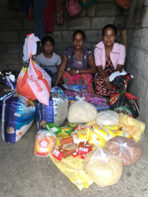 A family receives supplies for 3 months