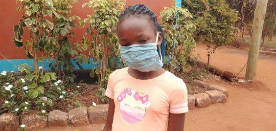 Makindu Girl with Mask