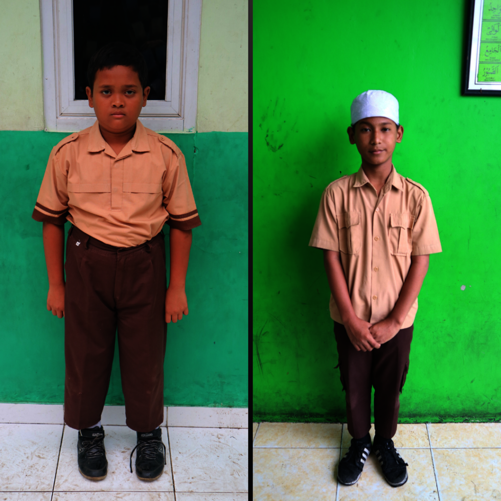 Fadhil (left) and Fatin (right), minimum uniform