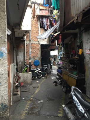 A glimpse of narrow alley in Tambora