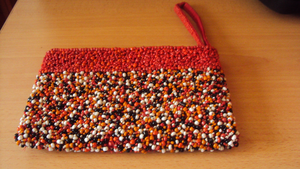 Beaded purse made by the Teenage mums