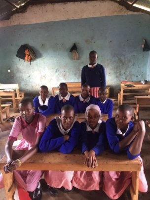 girls from Olooseos primary school