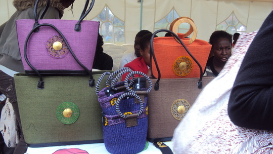 Beaded bags made by teenage mums