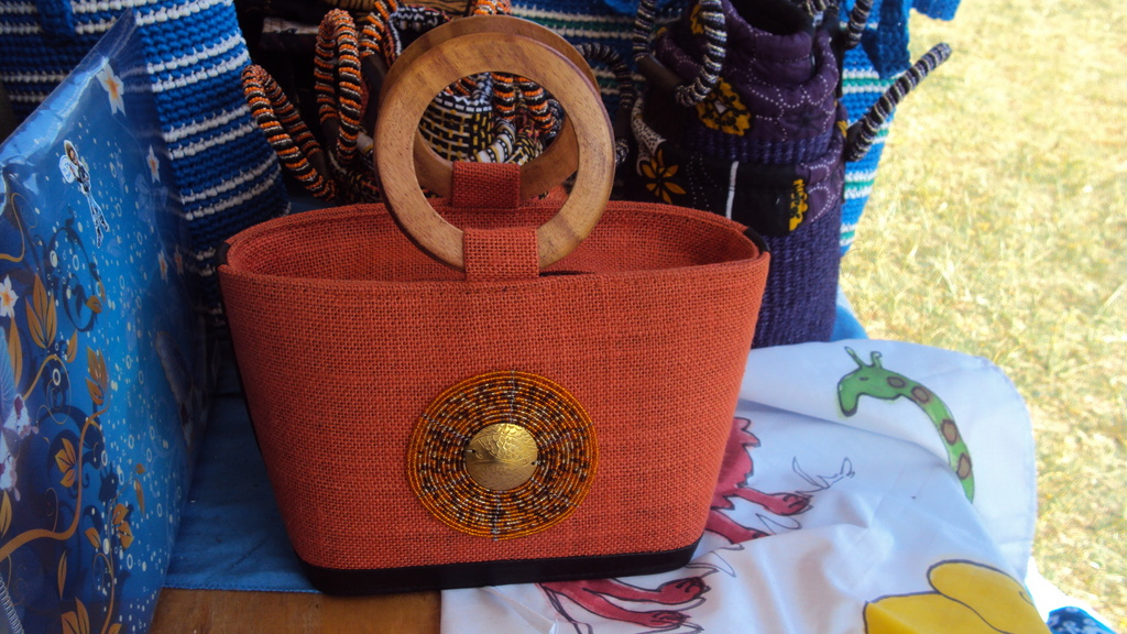 Beaded bags made by teenage mums