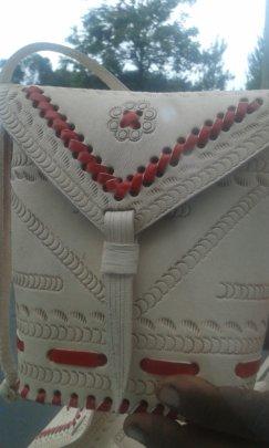 small leather handbag