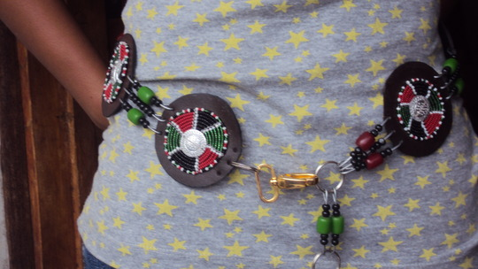 leather beaded belt by teen mums
