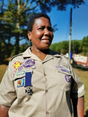 Constance with her Medal of Bravery from Scouts SA