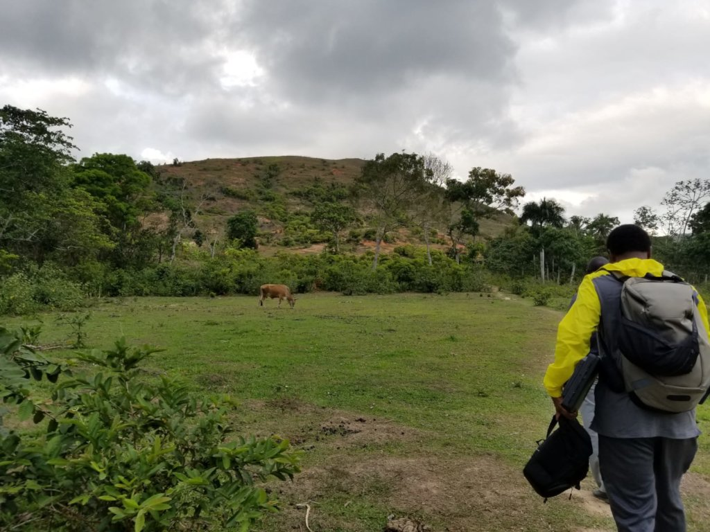 Ben arriving to survey the clinic site