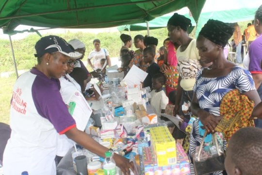 Outreach Pharmacy with free drugs for participant