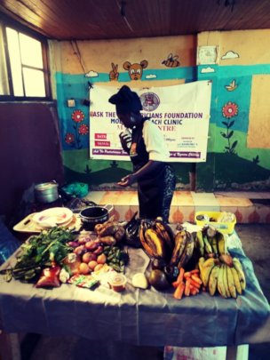 Food Demonstration at the Mobile Clinics