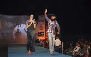 Salmanbhai walks the KRV fashion show ramp