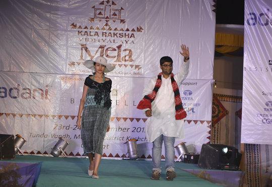 Best Collection winner Adil walks the ramp