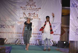 Best Collection winner Adil walks the ramp