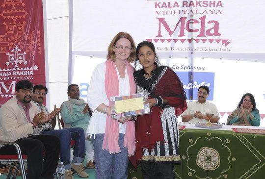 Kanchanben receives KRV certificate