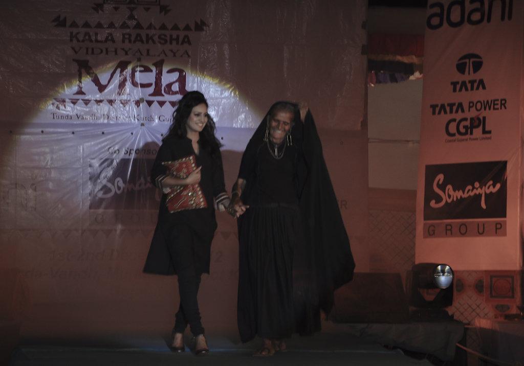 Jivaben walks the KRV fashion show ramp