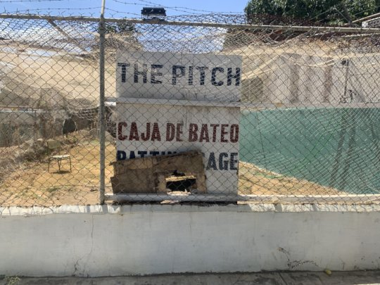 Examples of desperate repairs needed at The Pitch
