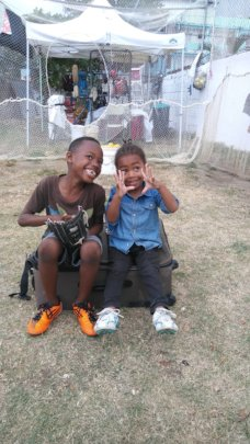 Happy Kids with new Shoes