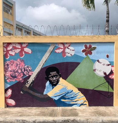 Mural on local community wall