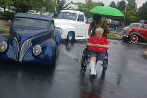 Residents view cars at Classic Car Show