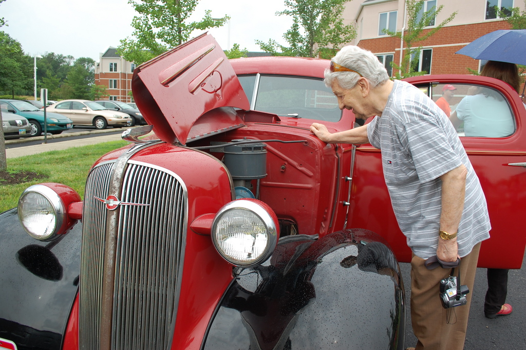Paul checking out the old engine